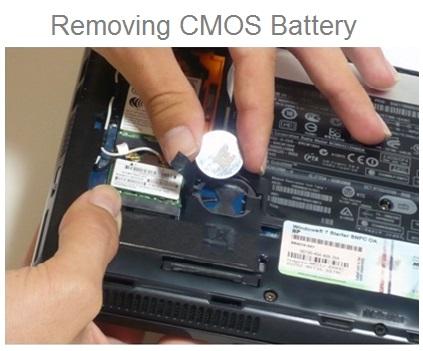 Removing CMOS Battery Laptop