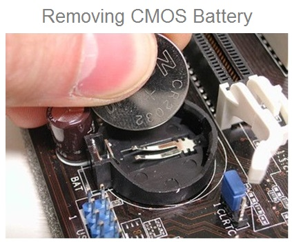 BIOS Reset By Removing CMOS Battery