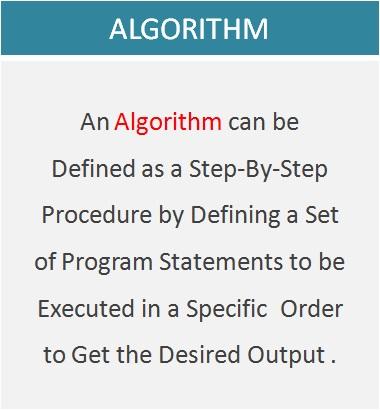 Algorithm