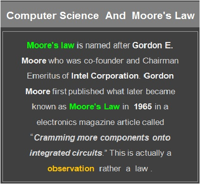 Moore's Law in CS