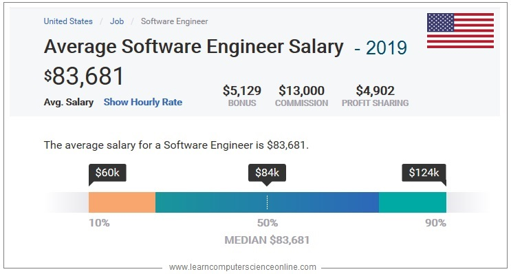 Average Software Developer Salary in USA 2019