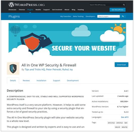 Website Security Plugin