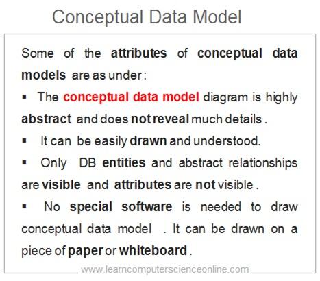 Conceptual Data Model Features