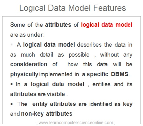 Logical Data Model Features