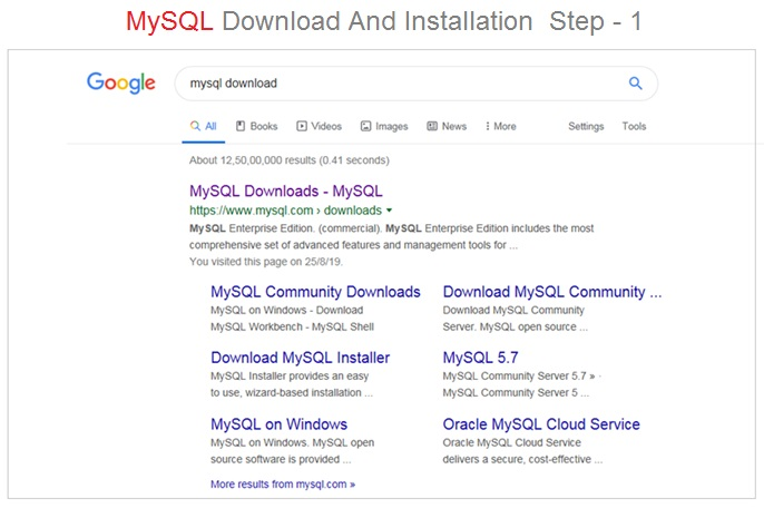 MySQL Installer Step 1