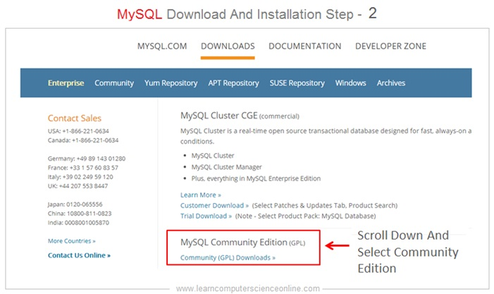 MySQL Installer Step 2