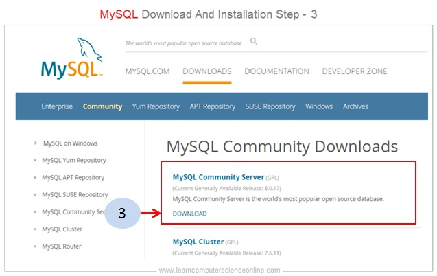 MySQL Installer Step 3