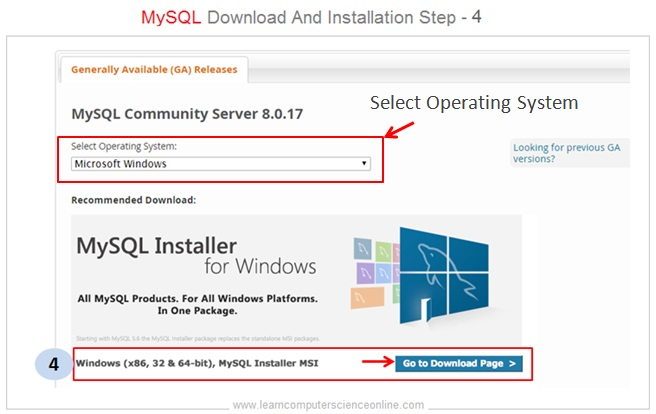 MySQL Installer Step 4