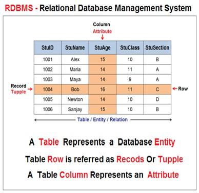 Relational Database Model Example