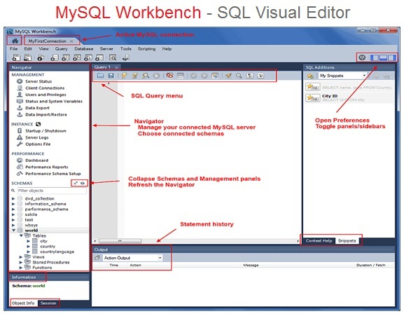 MySQL Workbench , SQL Visual Editor