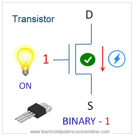 Transistor As Micro Switch , Binary 1