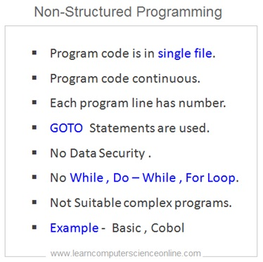 Non-Structured Programming