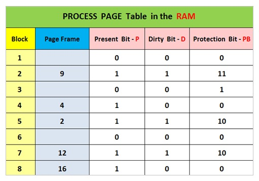Process Page Table Protection Bit