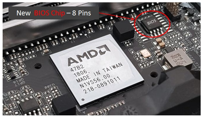 New BIOS chip with eight pins