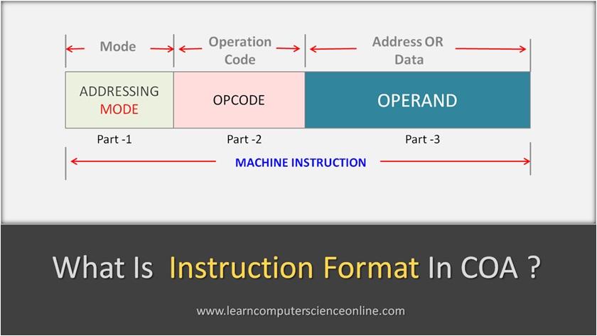 Instruction Format In COA
